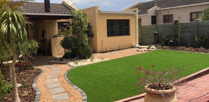 After - Lawn and gravel